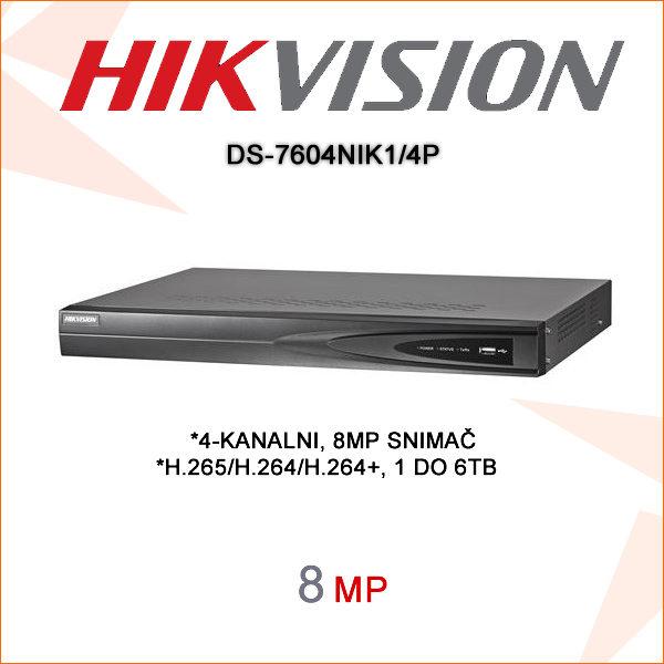 Hikvision snimač DS-7604NIK14P