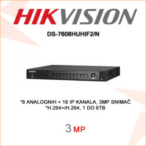 Hikvision snimač DS-7608HUHIF2N