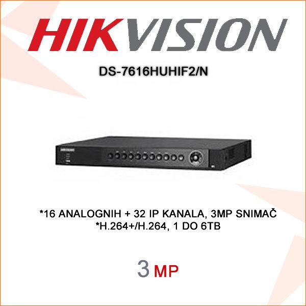 Hikvision snimač DS-7616HUHIF2N