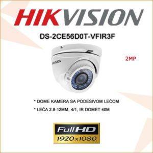 Hikvision 2mp Dome kamera