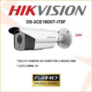 Hikvision 2mp bullet kamera