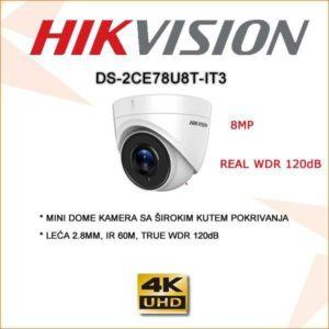 Hikvision 8mp dome kamera