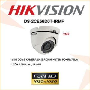 Hikvision 2mp mini dome kamera