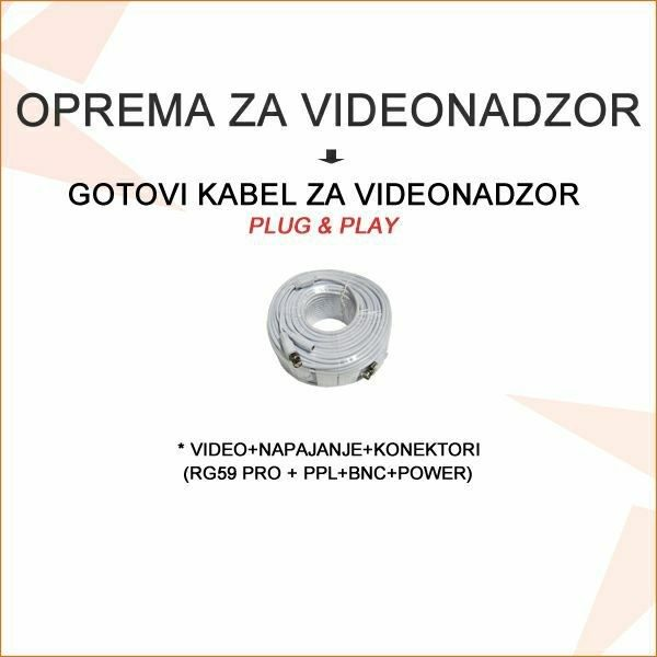 GOTOVI KABEL ZA VIDEONADZOR PLUG&PLAY 5M