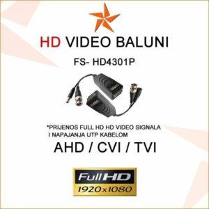 HD VIDEO BALUN + PRIJENOS NAPONA - PAR