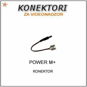 POWER M- MUŠKI KONEKTOR PRODUŽENI ZA NAPAJANJE KAMERA ZA VIDEONADZOR