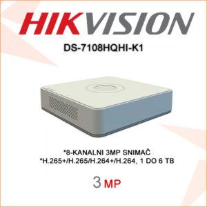 Hikvision snimač ds-7108hqhi-k1