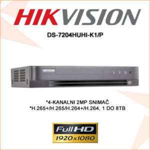Hikvision snimač DS-7204HUHI-K1/P