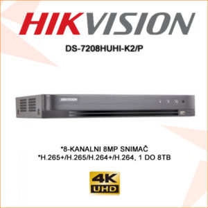 Hikvision snimač DS-7208HUHI-K2P