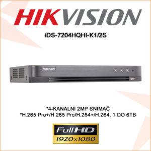 Hikvision snimač iDS-7204hqhi-k12s