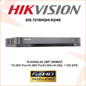 Hikvision snimač iDS-7216HQHI-K24S