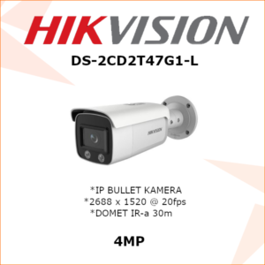 HIKVISION 4MP IP KAMERA DS-2CD2T47G1-L 2.8mm