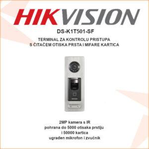 Genius Hikvision terminal za kontrolu pristupa s citacem otiska prsta i mifare kartica DS-K1T501-SF