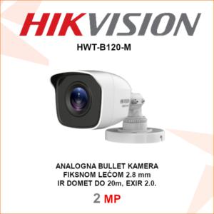 HIKVISION 2MP IR bullet kamera HWT-B120-M