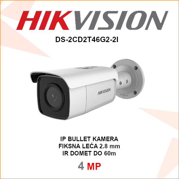 HIKVISION IP 4MP IR kamera DS-2CD2T46G2-2I