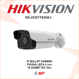 HIKVISION IP 4MP IR kamera 4mm DS-2CD1T43G0-I