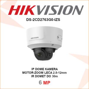 HIKVISION IP DOME 6MP MOTOR ZOOM KAMERA DS-2CD2763G0-IZS